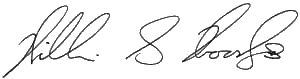 Signature of William S Woody